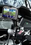 Brake/Clutch Assembly Mount or U-Bolt Handlebar Mount with Standard Sized Arm and TomTom RAM-HOL-TO9U Holder (Selected GO 740 Live Series)