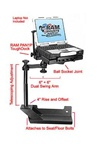 Dodge Ram 1500 (2002-2007) and 2500, 3500, 4500, 5500 (2003-2007) Panasonic Toughbook Laptop Mount System