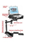Ford F-150 (2004-2008, 2009-2014) and Lincoln Mark LT (2005-Newer) Panasonic Toughbook Laptop Mount System