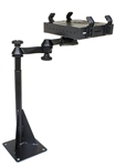 Universal Horizontal DRILL Down Base (Requires Flat and Level Floor Surface) Laptop Mount System