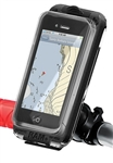 Rail Easy Mount Strap Base (Road and Mountain Bicycles) with Swivel Feature and with SMALL RAM-HOL-AQ7-1CU Aqua Box Pro 10 Waterproof Smartphone Holder