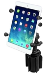 "RAM-A-Can Cup Holder Mount with RAM-HOL-UN8BU SMALL Universal Tablet Holder fits MOST 7-8"" Screens WITH or WITHOUT Case Including: Apple iPad Mini, Archos 7, Asus Pad, Barnes & Noble NOOKcolor, Dell Streak 7, Google Nexus 7, HTC Flyer, Galaxy, etc"