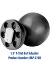 COMPOSITE T-Slot Adapter with 1.5 Inch Dia. Ball
