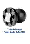 COMPOSITE T-Slot Adapter with 1.0 Inch Dia. Ball