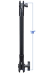RAM Composite 18 Inch LONG Extension Pole with 1 Inch Ball and 1.5 Inch Ball Socket Ends