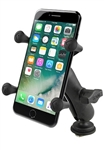 "RAM Track Ball Base (T-Bolt Dimensions: .48"" x .95""), Composite Standard Sized Arm and RAM-HOL-UN7U Universal X Grip Spring Loaded Holder (Fits Device Width .875"" to 3.25"" including iPhone 5/5S, iPhone 6, Galaxy S5, S6, etc)"