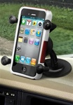 "Lil' Buddy Universal Mount with RAM-HOL-UN7U Universal X Grip Spring Loaded Holder (Fits Device Width .875"" to 3.25"" including iPhone 5/5S, iPhone 6, Galaxy S5, S6, etc)"