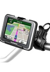 Easy Strap Base with Rubber Strap, SHORT Arm and Garmin RAM-HOL-GA42U Holder (Select nuvi 2200, 2250, 2250LT Series)