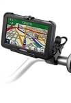 Easy Strap Base with Rubber Strap, SHORT Arm and Garmin RAM-HOL-GA49U Holder (Selected nuvi 40, 40LM Series)