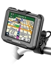 Easy Strap Base with Rubber Strap, SHORT Arm and Garmin RAM-HOL-GA51U Holder (Selected nuvi 30 Series)