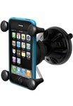 "Suction Cup 2.7 Inch Diameter Base with Twist Lock and RAM-HOL-UN7U Universal X Grip Spring Loaded Holder (Fits Device Width .875"" to 3.25"" including iPhone 5/5S, iPhone 6, Galaxy S5, S6, etc)"