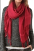 Love Quotes Tassel Scarf in Beaujolais