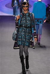 Anna Sui Runway King Fisher Coat