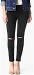 7 For All Mankind b(air) Denim Ankle Skinny with Knee Slits