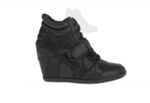 Ash Bowie Leather Wedge Sneaker