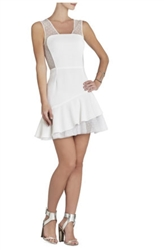 BCBGMAXAZRIA Adrianna Asymmetrical Ruffle-Skirt Dress