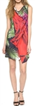 Clover Canyon Printed Draped Woven Dress