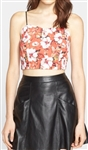 Clover Canyon Floral Sunrise Crop Top