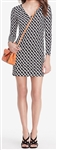 Diane von Furstenberg Reina Long Sleeve Silk Jersey Dress
