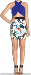 Milly Expressionist Print Zip Skirt