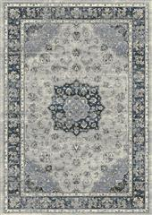Dynamic rugs an212575599686 ancient garden rug, 2.2x11, silver/blue