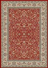 Dynamic rugs an24570781414 ancient garden rug, 2x3.11, red/ivory