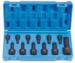 Grey Pneumatic 1234T Assorted Drive 12 Piece Int. Star Impact Driver Set