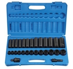 "Grey Pneumatic 1328RD 28 Pc. 1/2"" Drive Standard and Deep Fractional Set"