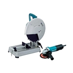 "Makita 2414NBX2 14"" Cut-Off Saw and 4-1/2"" Angle Grinder"