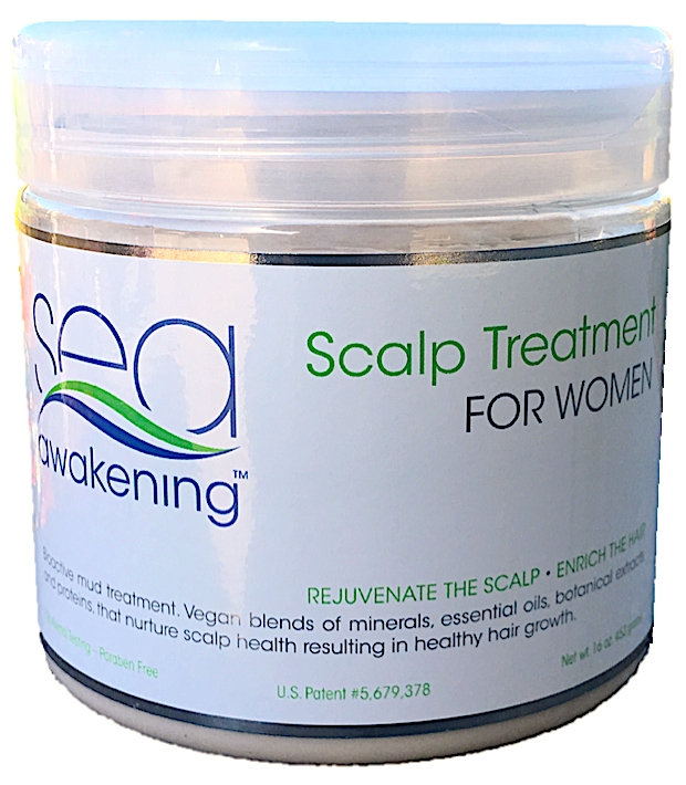 HAIR CLEANSING & SCALP TREATMENT FOR WOMEN & MEN.   Nourish Scalp & Hair, 16oz/453gr. Jar