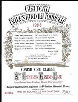 1985 Chateau Balestard la Tonnelle Bordeaux Red Blend from St-Emilion 750 ml