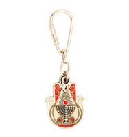 Menorah Hamsa Key Ring by Ester Shahaf