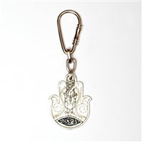 Decorated Hamsa Key Ring by Ester Shahaf