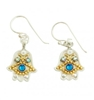 Oriental Hamsa Earrings - Small - by Ester Shahaf