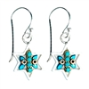 Turquoise Star of David Earrings by Ester Shahaf