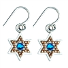 Golden Beads Star of David Earrings by Ester Shahaf