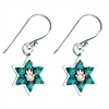 Hamsa Star of David Earrings by Ester Shahaf