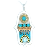 Oriental Hamsa Necklace by Ester Shahaf