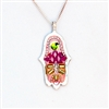 Pink  Hamsa Necklace by Ester Shahaf