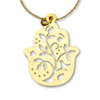 Tree Hamsa Necklace by Ester Shahaf