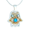 Hamsa Necklace Against Evil Eye by Ester Shahaf
