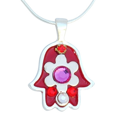 Flower Hamsa Necklace by Ester Shahaf