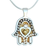Golden Hamsa Necklace by Ester Shahaf