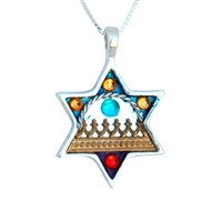 Star of David Necklace Against Evil Eye