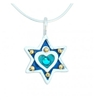 Heart Star of David Necklace - Small by Ester Shahaf