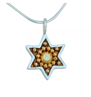 Small Gold Star of David Necklace by Ester Shahaf