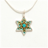Turquoise Small Star of David Necklace by Ester Shahaf