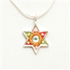 Tricolor Small Star of David Necklace by Ester Shahaf