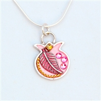 Pink Pomegranate Necklace by Ester Shahaf