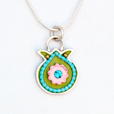 Colorful Pomegranate Necklace by Ester Shahaf
